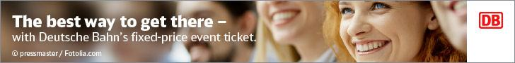 The best way to get to there - with Deutsche Bahn's fixed-price event ticket.